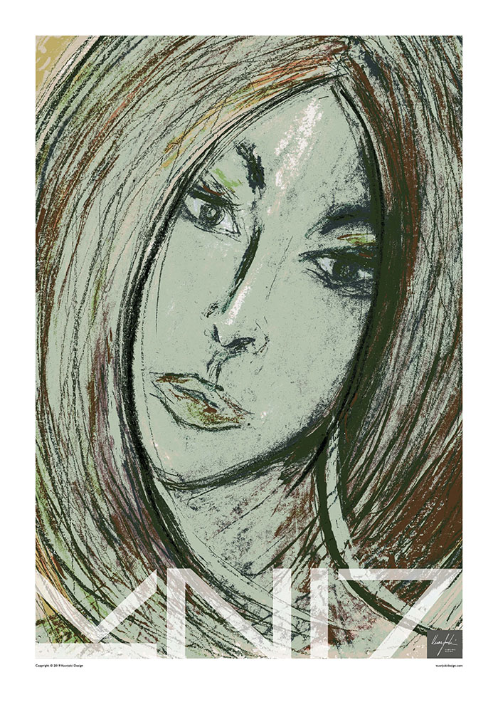 Picture of a 70x100 art print A32 November by Vuorjoki Design