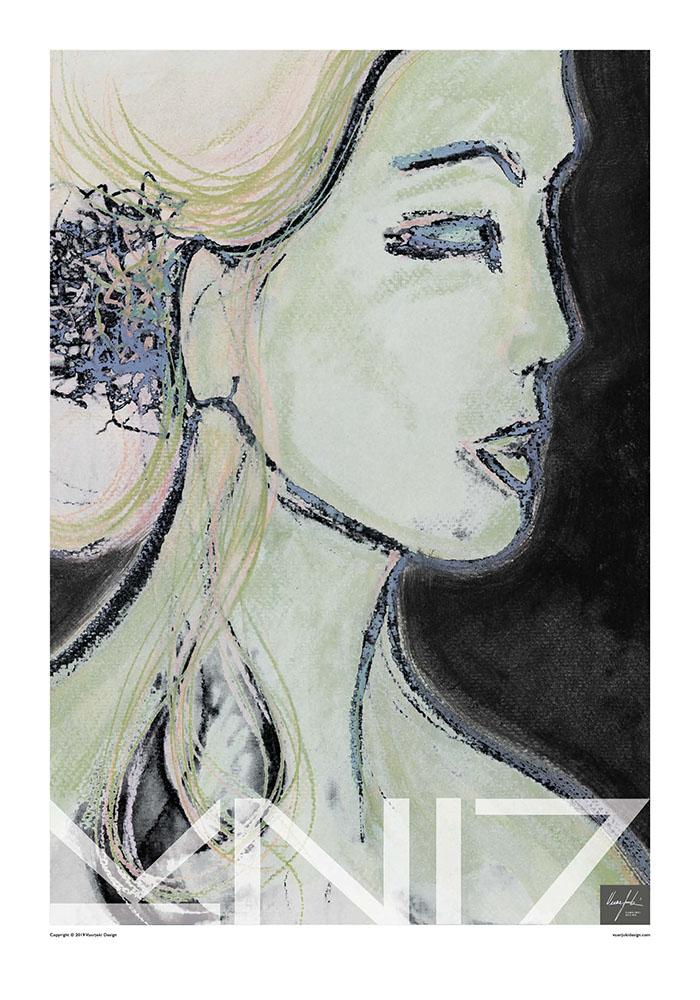 Picture of a 70x100 art print B17 Enigmatic by Vuorjoki Design