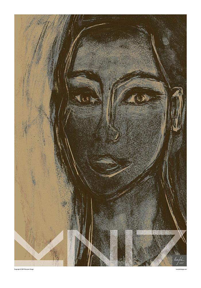 Picture of a 70x100 art print B28 Nevada by Vuorjoki Design