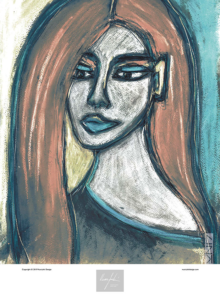 Picture of a 50x70 art print B43 Portrait by Vuorjoki Design