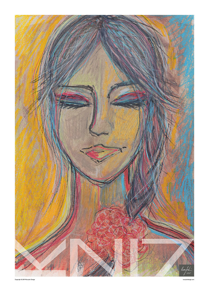 Picture of a 70x100 art print A37 Sunkissed by Vuorjoki Design