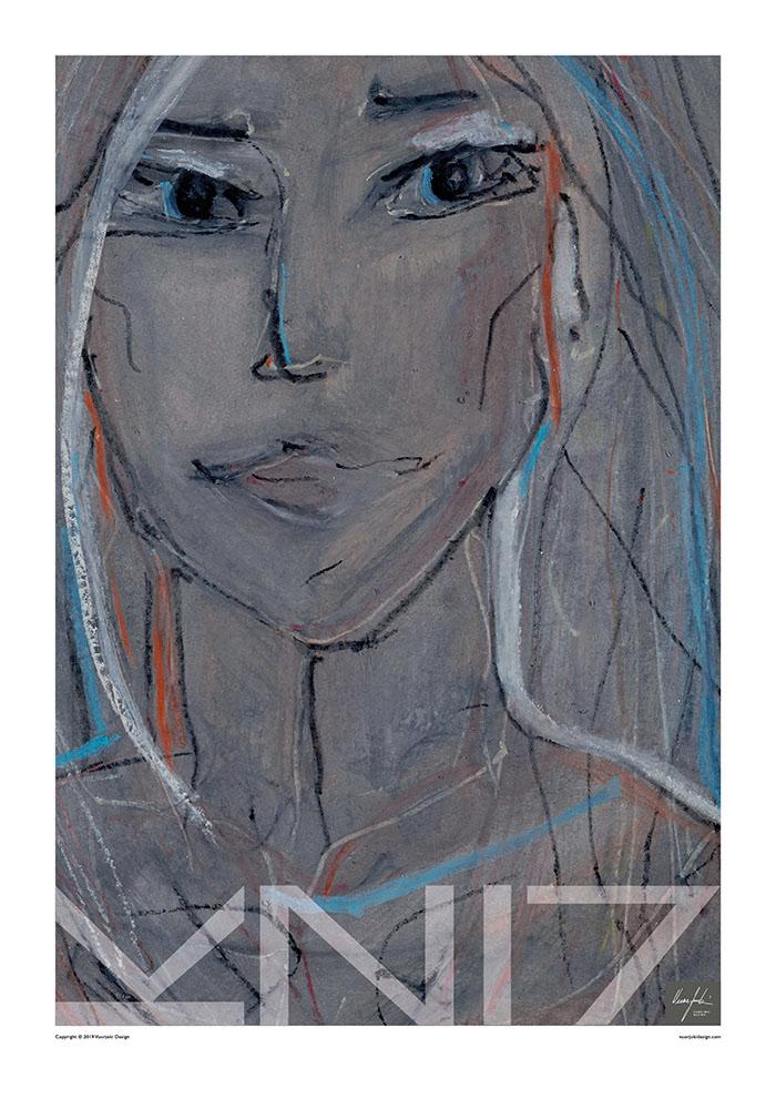 Picture of a 70x100 art print A41 Free Spirit by Vuorjoki Design