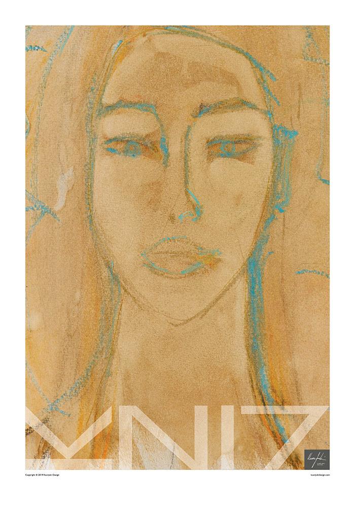 Picture of a 70x100 art print B2 Sahara Sand by Vuorjoki Design