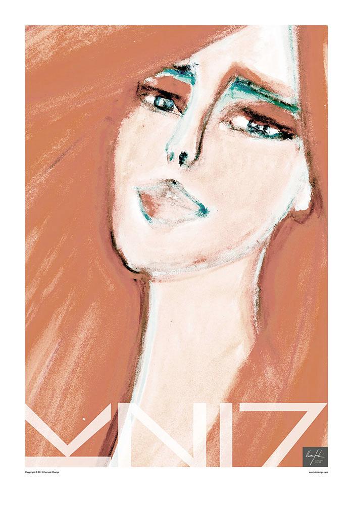 Picture of a 70x100 art print B21 Red by Vuorjoki Design