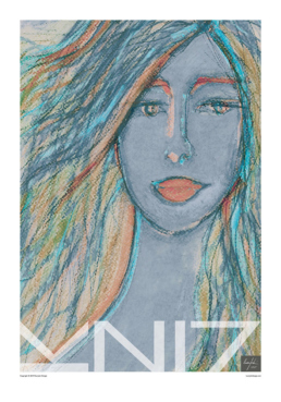 Picture of a 70x100 art print B23 Zoe by Vuorjoki Design