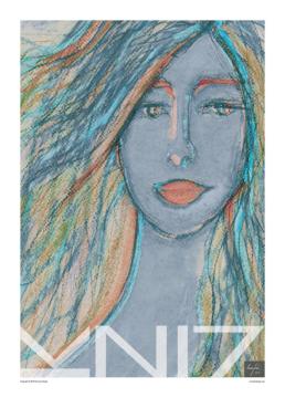Picture of a 70x100 art print B23 Zoe by Vuorjoki Design