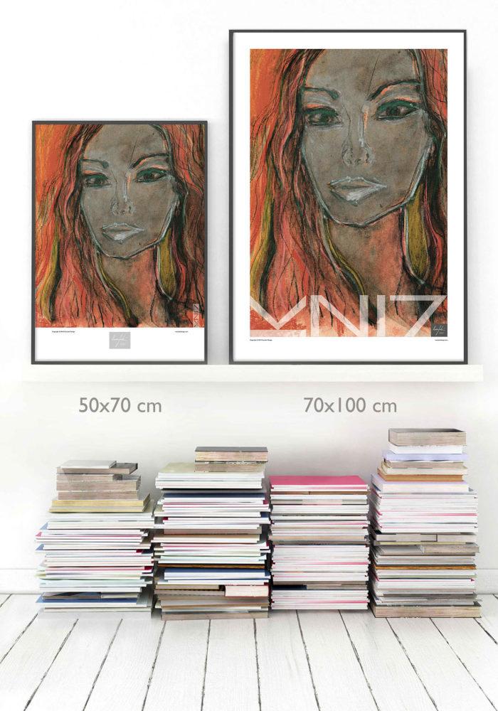 Picture of Vuorjoki Design art prints / posters size comparison