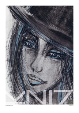 Picture of a 70x100 art print B1 Bowler by Vuorjoki Design